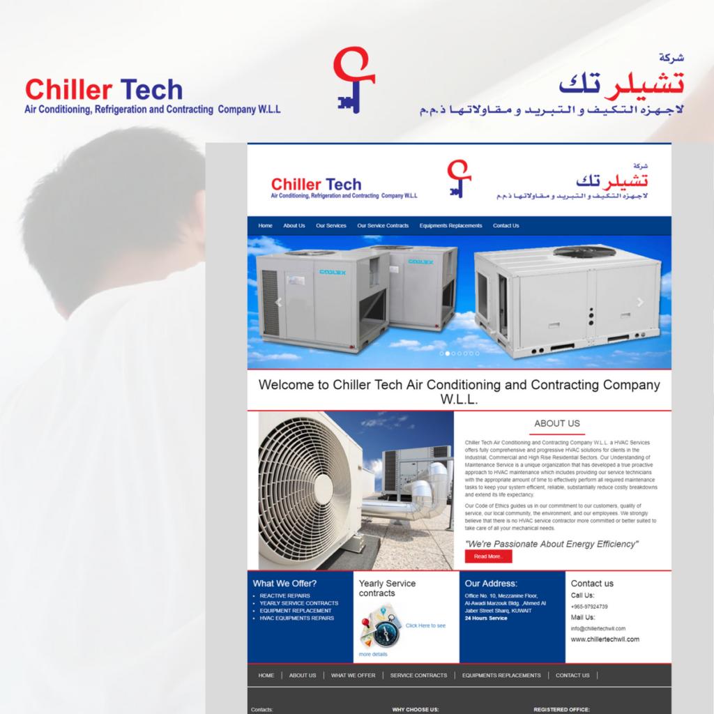 Chiller Tech- Air Conditioning in Kuwait - WebSenor - Web Design